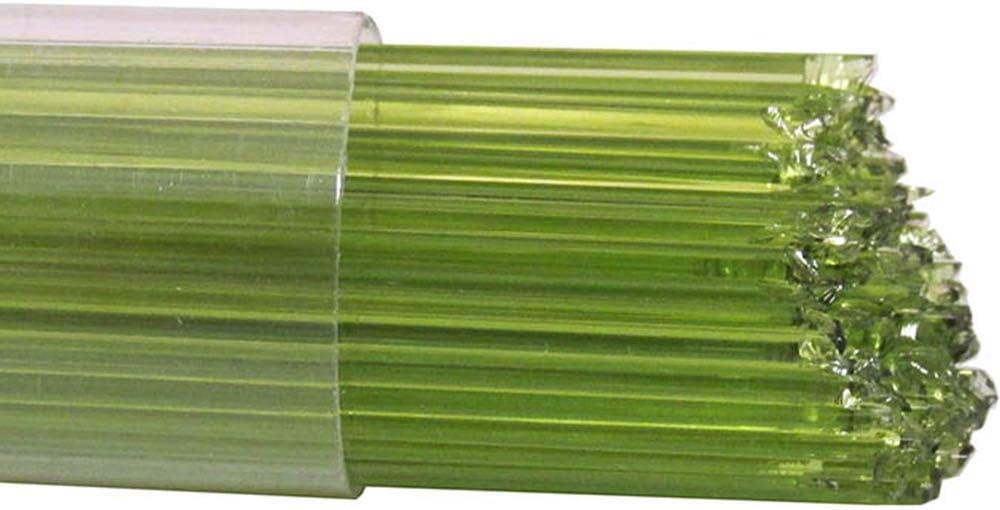 96 COE Oceanside Glass Stringers Lime Green Transparent
