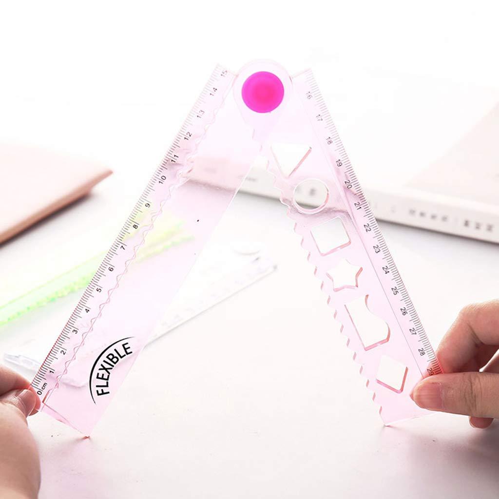 niumanery 30cm Righello Pieghevole Flessibile Coreano Righelli da Disegno in plastica Multifunzione Ufficio Scuola Cartoleria Studenti Regali per Bambini