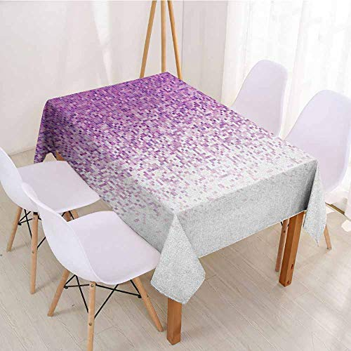 ScottDecor Fabric Tablecloth Rectangular Polyester Tablecloth W 50