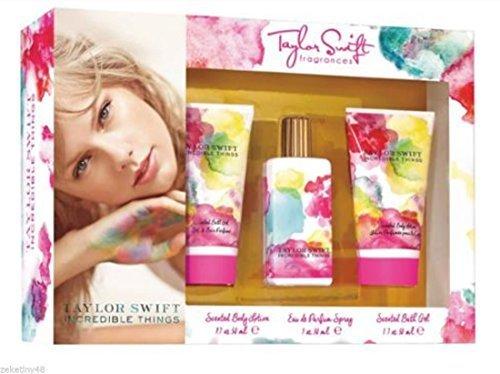 Incredible Things By Taylor Swift Eau de Parfum 3 Piece Gift Set (Taylor By Taylor Swift Perfume Gift Set)