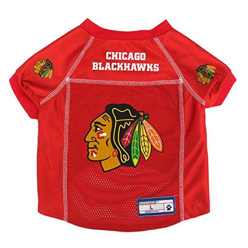 NHL Chicago Blackhawks Pet Jersey, Large (Jersey Red Chicago Blackhawks)