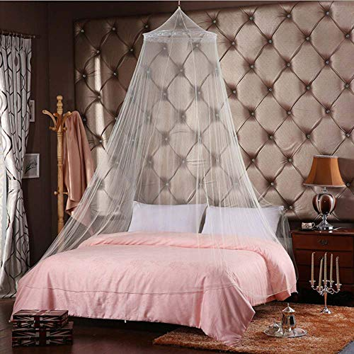 Alisy Princess Beige Hanging Pylon Hammock Mosquito Net - Dome Mosquito Nets Play Tent Bed Canopy for Beding