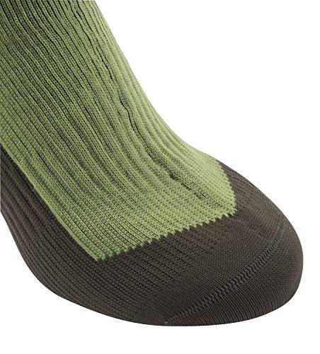 Mid Moss Golden Sealskinz Knee Hiking Dark Olive Socks Czw5O