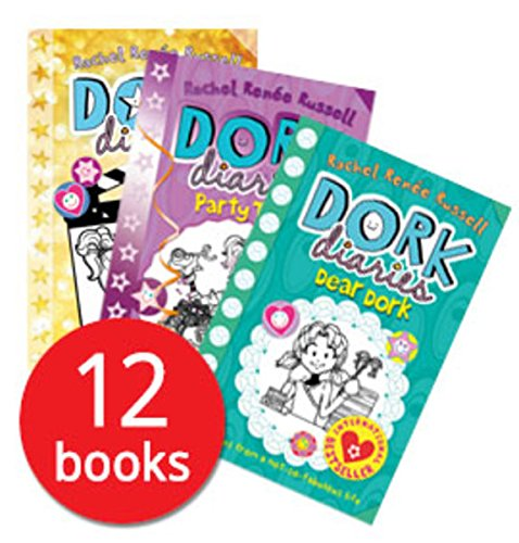 Dork Diaries By Rachel Renee Russell 12 Books Collection Set (Puppy Love, Holiday Heartbreak, TV Star, Pop Star, OMG, Skating Sensation, Party Time) [Paperback] [Jan 01, 2017] Rachel Renee Russell ()