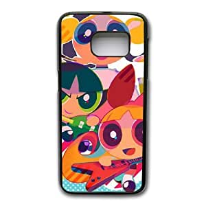 Grouden R Create and Design Phone Case, PowerPuff Girls Cell Phone Case for Samsung Galaxy S7 Black + Tempered Glass Screen Protector (Free) LPC-8018396