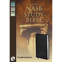 NASB, Zondervan NASB Study Bible, Bonded Leather, Black, Indexed