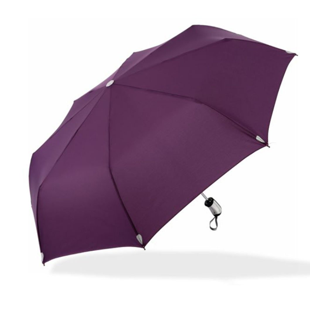 Auto Open Foldable Umbrella Windproof Compact Lightweight Fast Dry for women and men (dark purple) by Aviss