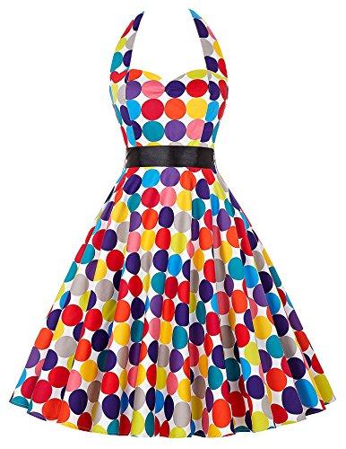 Grace Karin 50s de Las Mujeres del Patrón Retro del Vestido - Vestido Floral Oscilación del Patinador de Vestir 16#