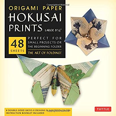 "Origami Paper - Hokusai Prints - Large 8 1/4"" - 48 Sheets: (Tuttle Origami Paper)"