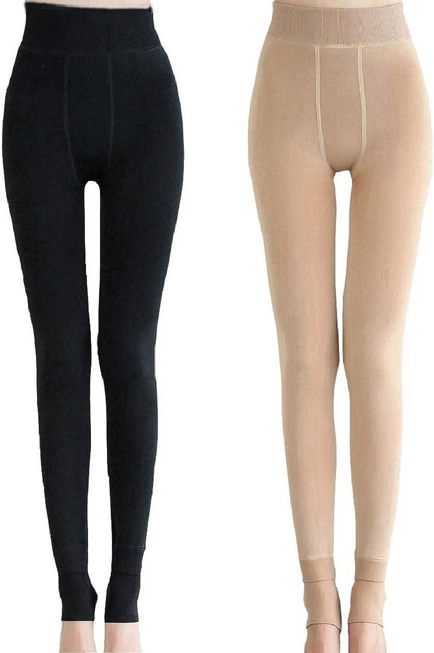 Yuson Girl 2 Slim Warm Slimtess Leggings Epais Thermique Grande Taille Hiver Chaud Femme Strech Pantalon Elastique Velours polaire Hiver Femme Taille