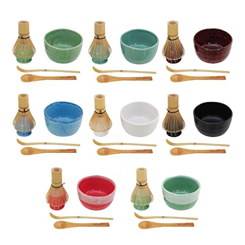Cheapest Price! BambooMN Brand - Matcha Bowl Set (Includes Bowl, Rest,Tea Whisk, Chasaku, Tea Spoon)...