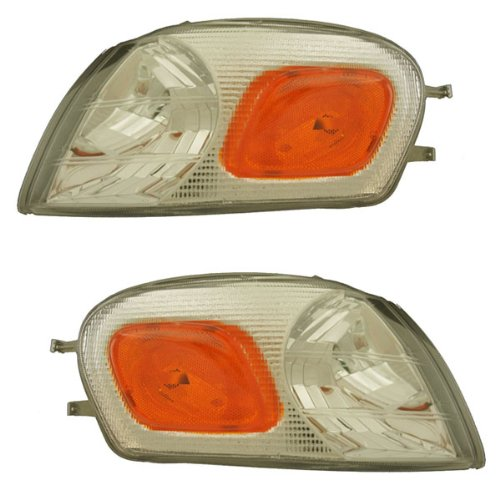 Pontiac Montana Van (1997-2005 Chevrolet/Chevy Venture, 1997-2004 Oldsmobile/Olds Silhouette, 1999-2005 Pontiac Montana & 1997-2000 Trans Sport Park Van Corner Light Turn Signal Marker Lamp Set Pair Right Passenger And Left Driver Side (1997 97 1998 98 1999 99 2000 00 2001 01 2002 02 2003 03 2004 04 2005 05))