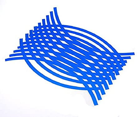 Blue Changeshopping 18 Strips Motorcycle Car Wheel Tire Stickers Reflective Rim Tape