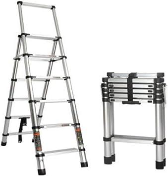SHENGSHIHUIZHONG Escalera telescópica, Escalera, Escalera plegable telescópica para el hogar, Escalera multifunción gruesa, Escalera de ingeniería de cinco pasos de aleación de aluminio, Escaleras de: Amazon.es: Bricolaje y herramientas