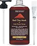 The BEST Facial Mask - Best for Facial Treatment, Minimizes Pores & Reduces Wrinkles, Acne Scars, Blackheads & Cellulite - Great as Face Mask & Body Cleanse (Red Clay)