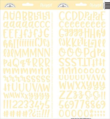 Doodlebug ABAS-5812 Abigail Font Cardstock Alpha Stickers 6