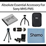 Absolute Essential Accessories Kit For Sony MHS-PM5 Bloggie HD Video Camera Includes Extended Replacement NP-BK1 Battery + AC/DC Rapid Travel Charger + Hard Case + USB SD Card Reader + Flexible Tripod + Screen Protectors + More