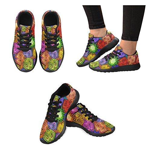 Lightweight Trainer Jogging Cross Walking Sports Running Athletic InterestPrint Womens Sneakers Shoes 7 Multi xqEYwXR5