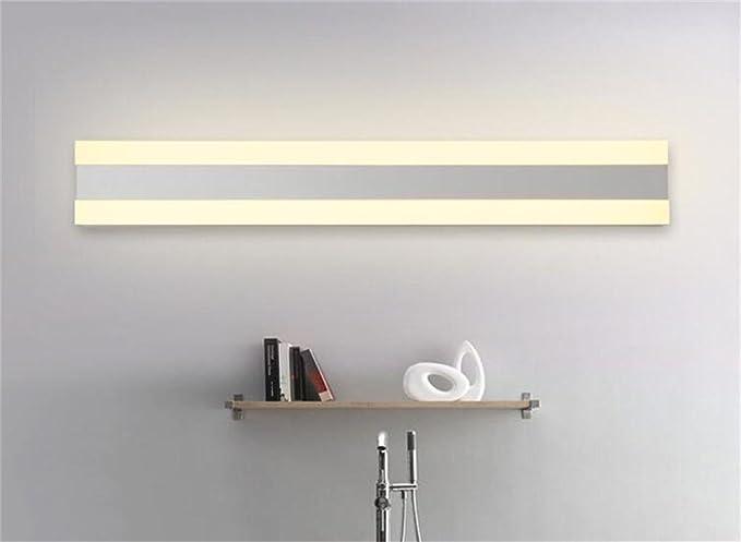 Specchio frontale creativa minimalista luci specchio bagno ha