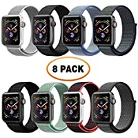 VATI Band Compatible with Apple Watch Band 38mm 42mm 40mm 44mm Soft Breathable Nylon Sport Loop Band Adjustable Wrist Strap Replacement Band Compatible with iWatch 2018 Apple Watch Series 4 3/2/1