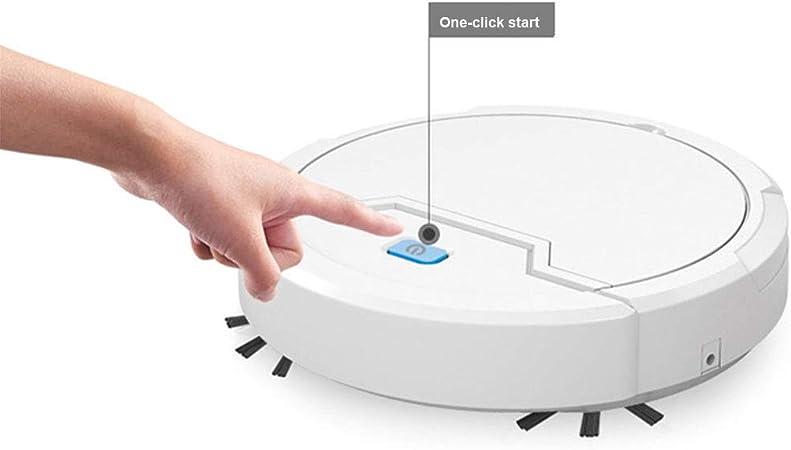 Robot Aspirador Inteligente, 3 En 1 Robot Aspirador Automático y Fregasuelos,USB Recargable,Súper Delgada,Succión Fuerte De 1800 Pa,para Mascotas,Moqueta,Alfombras: Amazon.es: Hogar