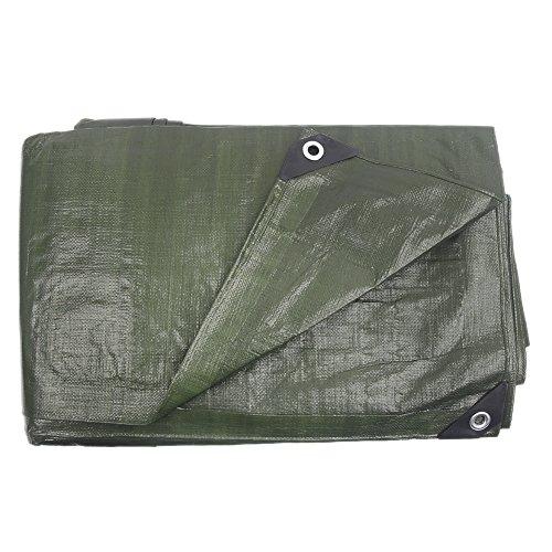 Tarp Heavy Duty Waterproof Hanjet Camping Car Pool Waste Shade Poly Tarp Cover Shelter Army Green