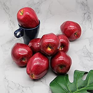 YOFIT Artificial Apple Fake Fruit for Home Kitchen Decoration,8 Pack 4