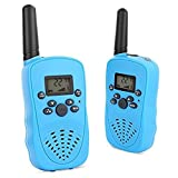 Mini Radio walkie talkie, funny gifts for boys and girls, durable 22 channels FRS outdoor UHF 2 way radio toys Blue color (AAA batteries included)