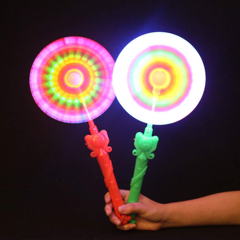 ALIKEEY Windm/ühlen Blinklicht Leuchten LED und Musik Rainbow Spinning Windmill Lichter Spielzeug lustiges Spielzeug