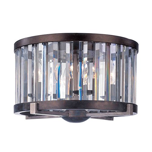 (Flush Mounts 4 Light with Grecian Bronze Finish with Cut Crystal Shade Medium Base Bulb 10 inch 160)