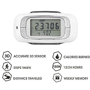 hangang marca podómetro 3d 7 días memoria orgánica precisa contador de paso, distancia/contador