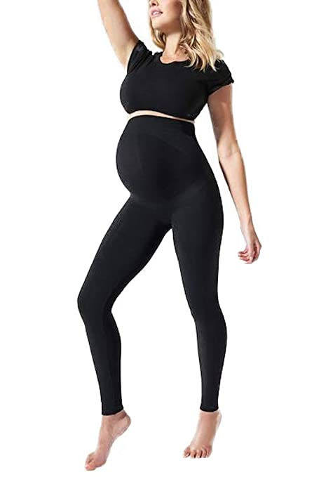 d170658350ad3 Amazon.com: BLANQI Everyday Maternity Belly Support Leggings: Clothing