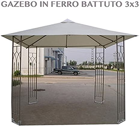 Gazebo Da Giardino In Ferro Battuto.Professional Gazebo Da Giardino In Ferro Battuto 3x3 Per Arredo