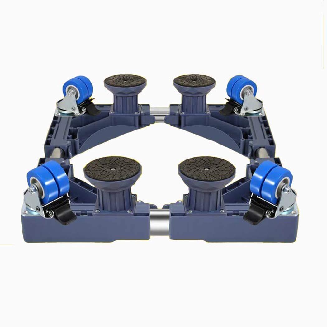 洗濯機のベース、キャスター付きユニバーサル多機能調節可能なベース、洗濯機用ステンレススチール/冷蔵庫/乾燥機/キャビネット (色 : グレー, サイズ : 4) 4 グレー B07GDLRXB4