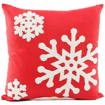 Amazon Com Howarmer 18x18 Christmas Decoration Red Throw