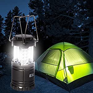 Ultra Bright 30 LED Lantern, the Best Multifunctional LED Lantern for Camping, Hunting, Fishing, Hiking, Backpacking, Emergency, Battery Powered and Long Lasting (Gray)