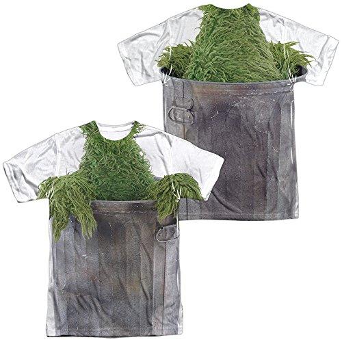 [Sesame Street Oscar Costume Adult All Over Print 100% Poly T-Shirt 3XL] (Oscar Sesame Street Costume)