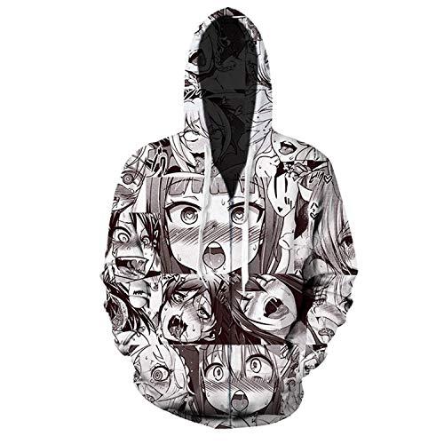 (King Fury Hoodies Hoodies Sweatshirt Autumn Winter Men's Long Sleeve 3D Print Shirt Pullovers Tracksuit Plus Size (Zip Hoodies, 5XL))