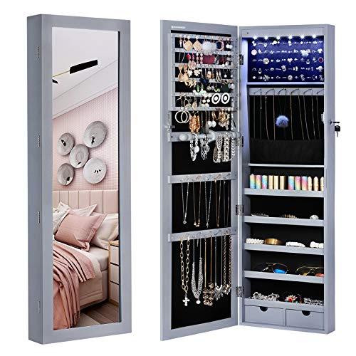 SONGMICS 6 LEDs Cabinet