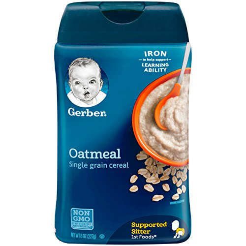 Gerber Single-Grain Oatmeal Baby Cereal, 8 oz (Pack of 6) (Baby Single)