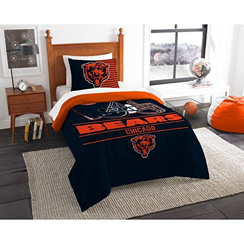 - Northwest Chicago Bears Twin Comforter Set, Blue, 64