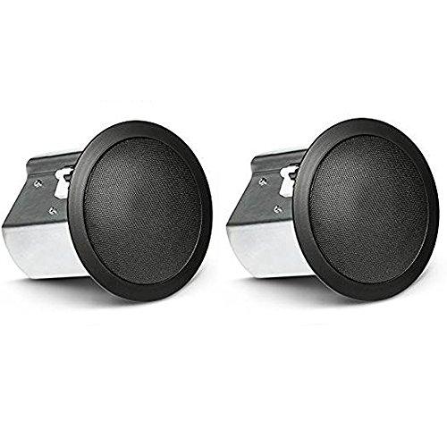 JBL CONTROL - Altavoz coaxial de dos vías para techo (se vende como par), Negro, 4' Speaker
