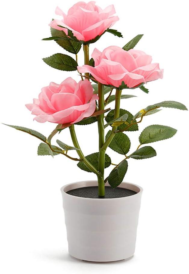 Solar Blumentopf LED Licht Rose Blume Lichter Garten Outdoor Deko Pflanze Garten Licht Rasen Lampe f/ür Haus Garten Zimmer Outdoor Dekoration