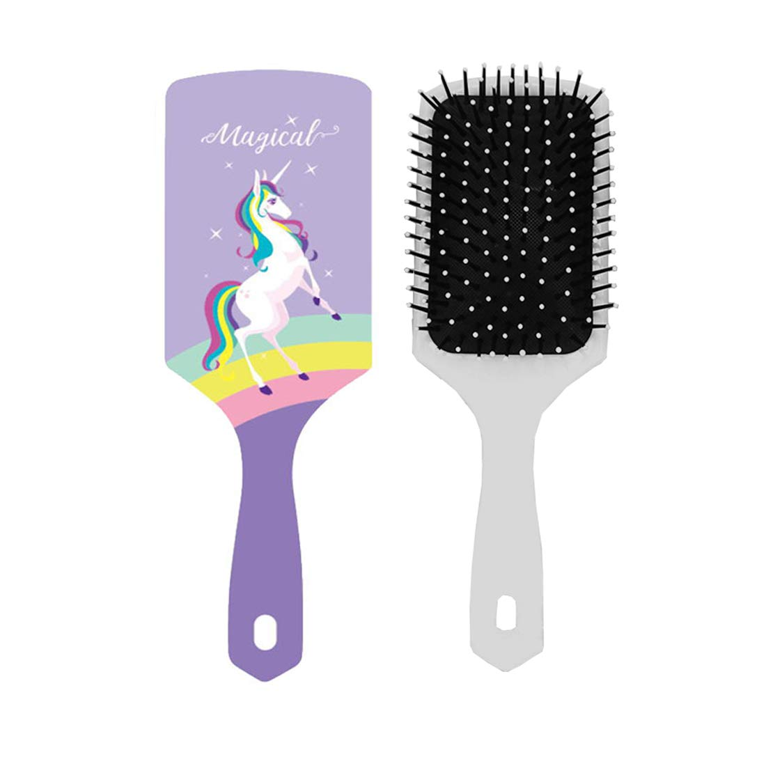 Amazon Com Unicorn Hair Brush Girls Hairbrush Plastic Curly Comb With Air Cushion Anti Frizz Static Snag Tangle For Children Wet Dry Roll Hair Extension Volume Cute Christmas Gifts Detangling Hairbrush
