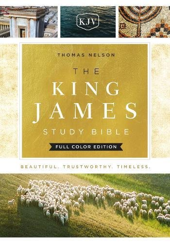 The King James Study Bible, Cloth over Board, Full-Color Edition