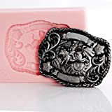 Cowboy Belt Buckle Silicone Mold Make Your Own Western Chocolate, Fondant, Candy, Soap, Resin, Clay, Wax, Flexible and Easy to Use