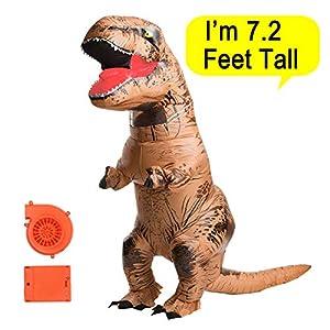 Poptrend Dinosaur Costume Halloween Inflatable T-Rex Dinosaur Dress up Funny Simulation Luxury Cosplay Costume Suit