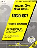What Do You Know about Sociology?, Rudman, Jack, 0837371112
