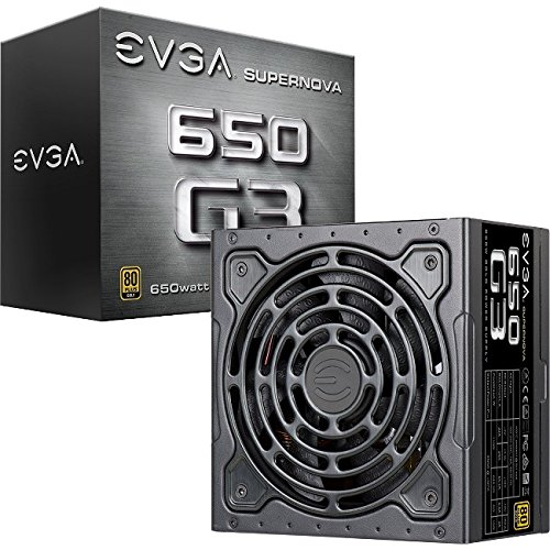 : EVGA Supernova 650 G3, 80 Plus Gold 650W, Fully Modular, Eco Mode with New HDB Fan, 7 Year Warranty, Includes Power ON Self Tester, Compact 150mm Size, Power Supply 220-G3-0650-Y1
