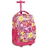 J World New York Sunny Rolling Backpack, Poppy Pansy, One Size